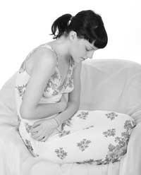 Bolesti břicha při přechodu